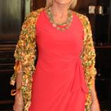 Vicki H in Coral Dress