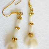 White FWP Earrings