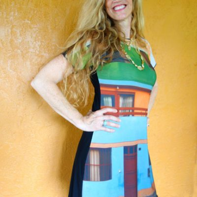House print dress
