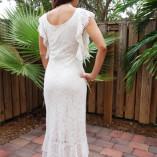 L160 Ute Long Dress Back