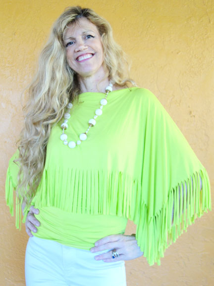 Green fringe top front