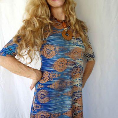 Blue-copper dress