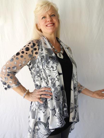 Gray mesh jackt