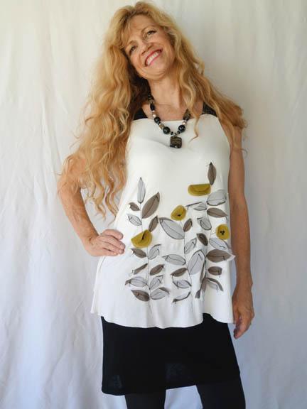 MM appliqued dress
