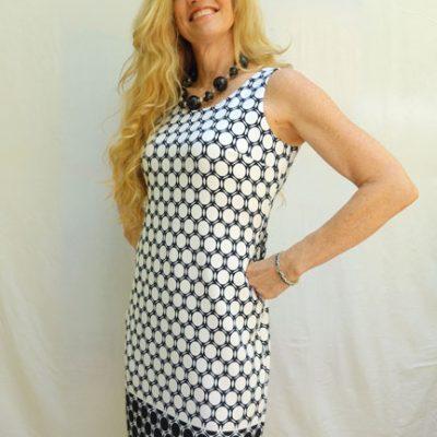 B?W Geometric Dress