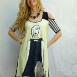 Omdaya Illustrated Dress #2