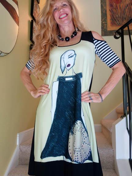 Omdaya Illustrated Dress