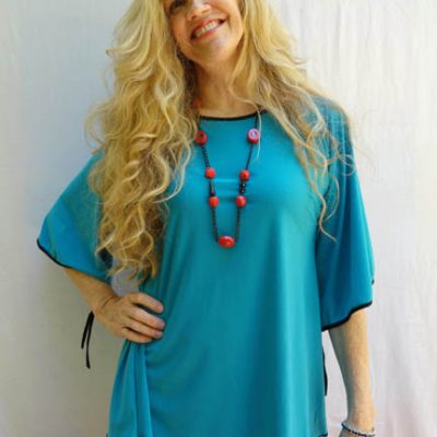 Omdaya Teal Tunic
