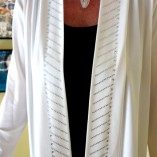 White & gemstone jacket
